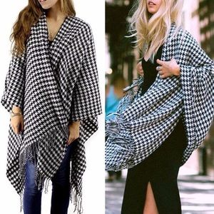 Fall/Winter Shawl fringe poncho blanket wrap NWT